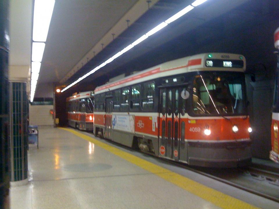 King Streetcar at Spadina Station by sillygwailo