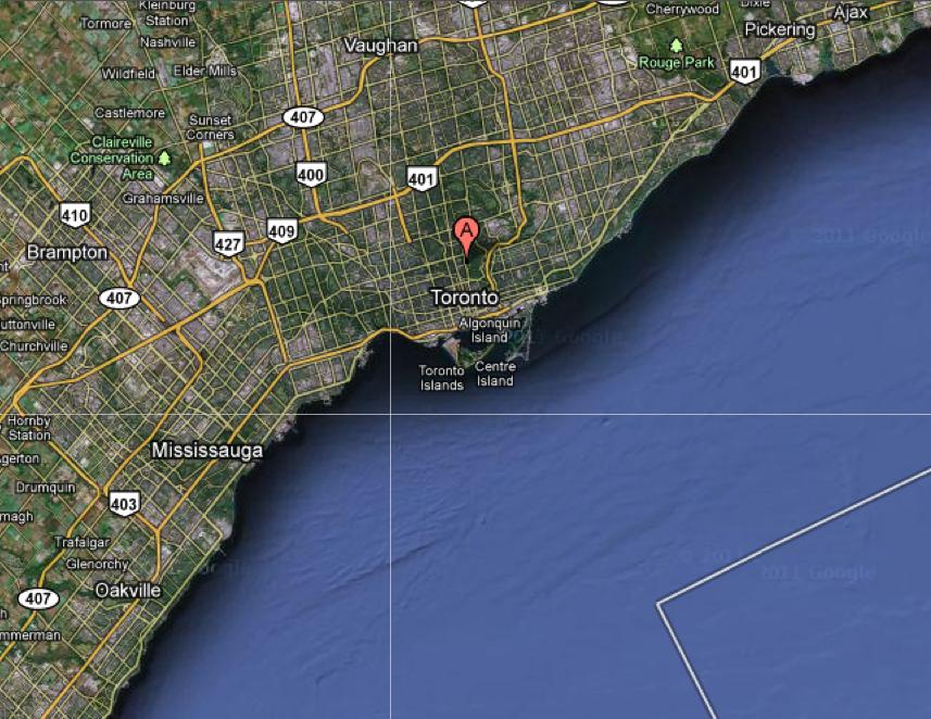 North Toronto satellite view 1