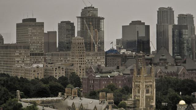 Toronto University area skyline by Alexander Farley