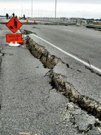Earthquake Damage by Martin Luff