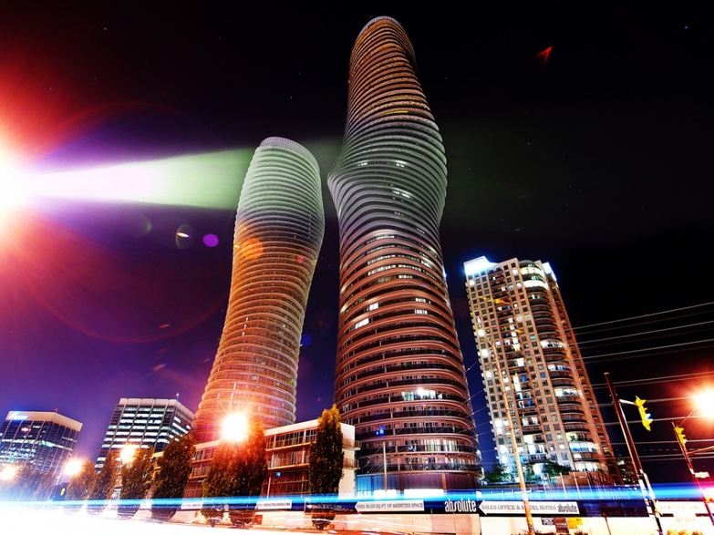 Absolute Towers in Mississauga in HDR