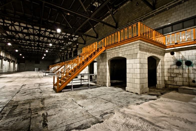 Ontario Power Company Plant staircase