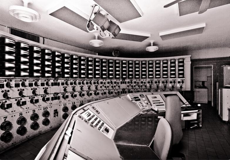 Machine room of power station
