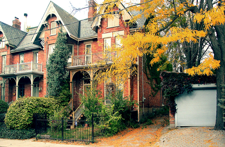 Victorian houses in Cabbagetown