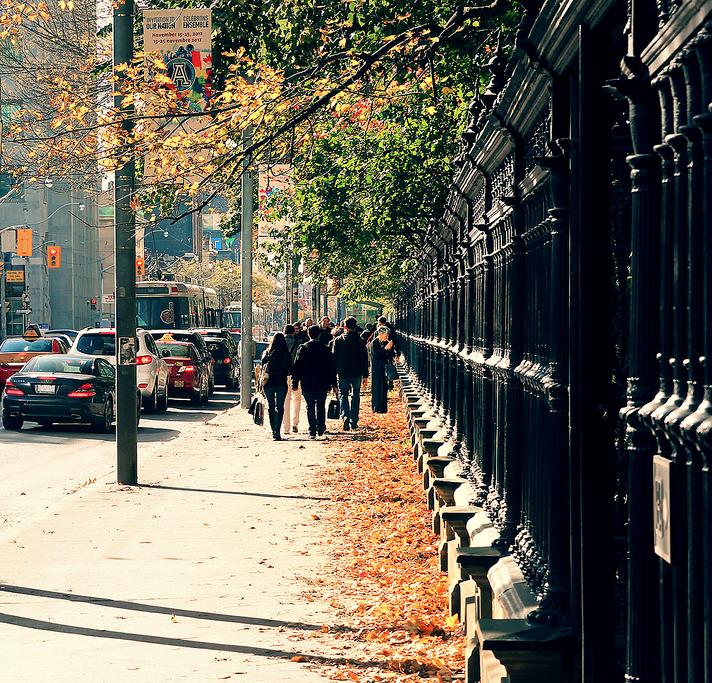 Verticals of Queen street