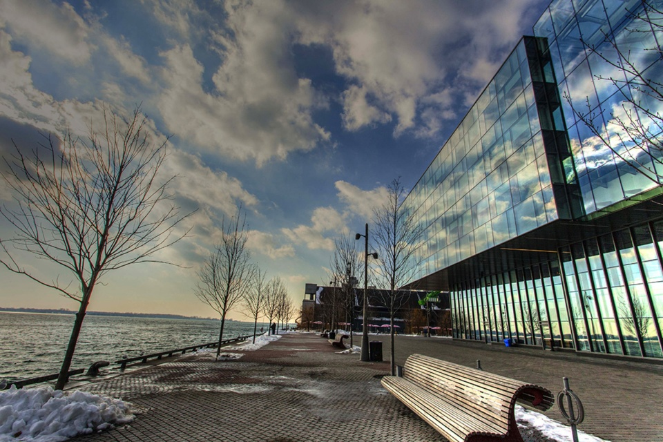 Corus Entertainment Reflection on Toronto harbour
