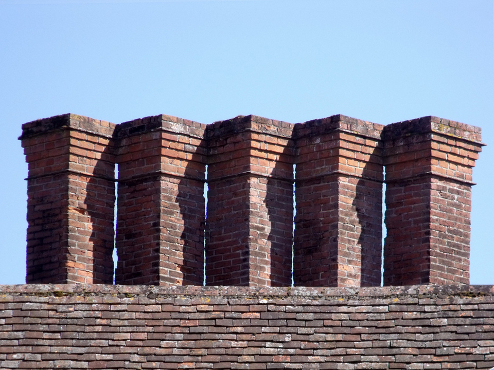 Brick Chimneys by Elliott Brown