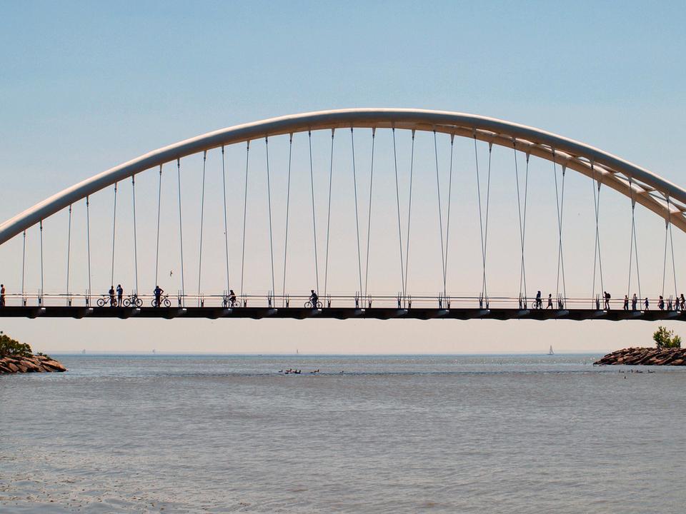 Humber Bay Arch Bridge by Michael Gil