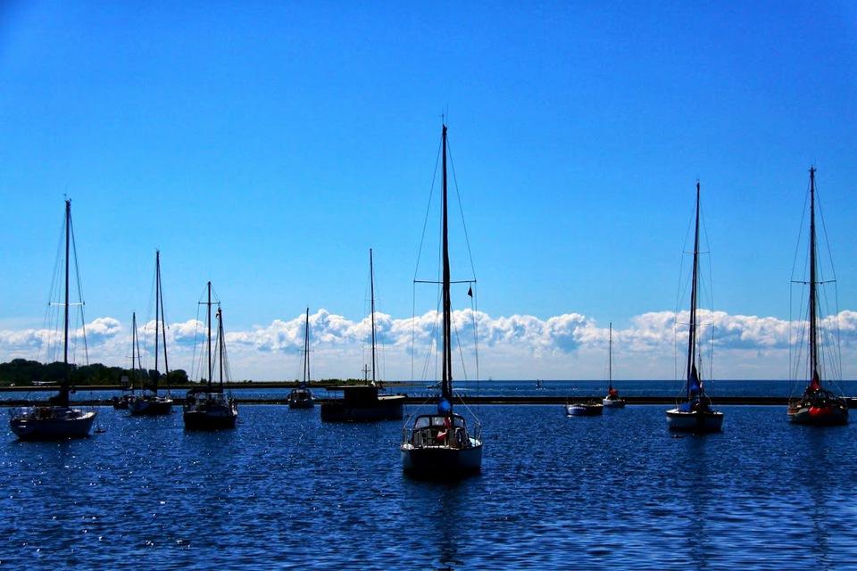 Sailboats on Lake Ontario