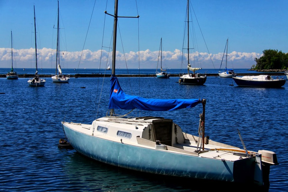 Toronto Inukshuk Park Sail Boat
