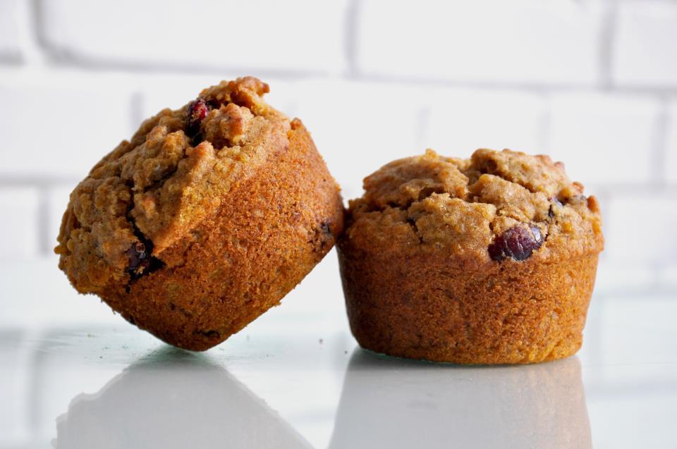 Gluten Free Quinoa Cranberry Walnut Muffin Crema Coffee Co