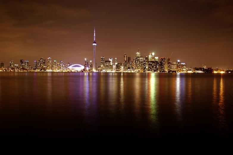 Toronto skyline at night by mariusz kluzniak