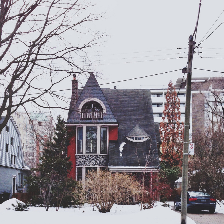House in winter Toronto by Kevin Morris
