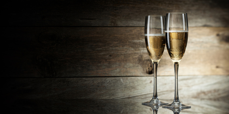 Glasses With Sparkling Wine