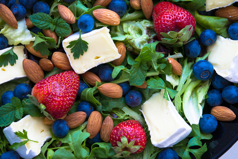 Berry Brie Almond Salad by Amazing Almonds