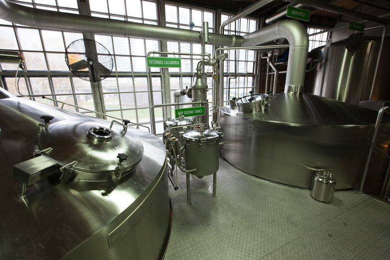 Steam Whistle Brewery 13 fermentation tanks