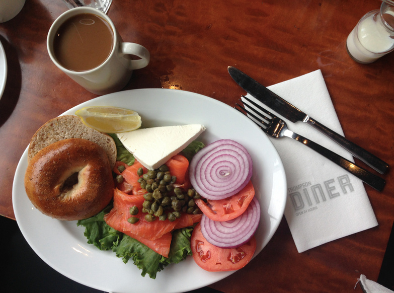Thompson Diner Bagel and Lox