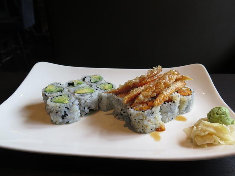 Sushi Moto Yummy yam and cucumber rolls