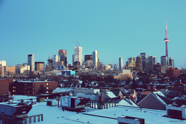 Toronto Skyline by Maxime Fort