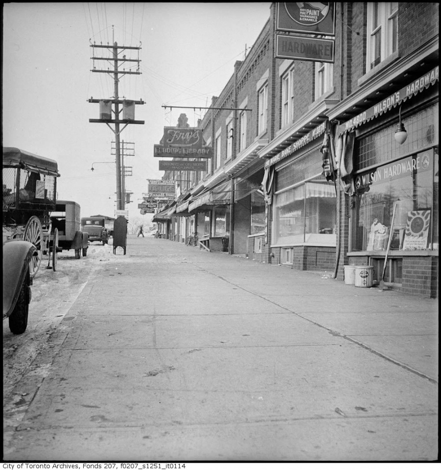 Eglinton Avenue West from Avenue Road by Toronto History
