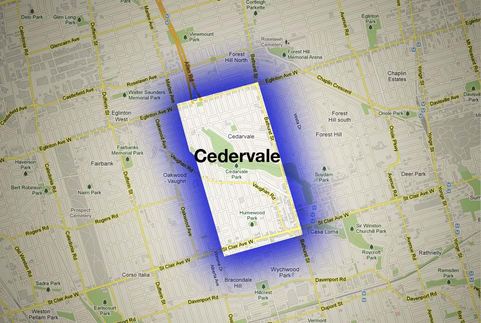 Map of Cedervale Neighbourhood