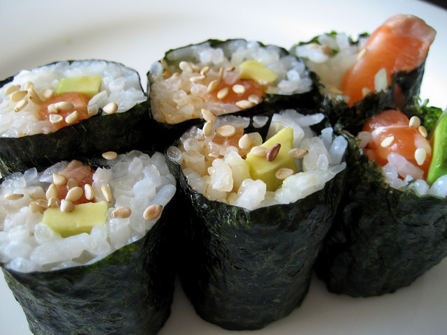my favorite homemade sushi roll by little blue hen