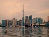 Toronto Skyline at Sunrise in August by Michael Gil