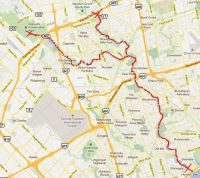 Humber Trail Bike Trail Map 1