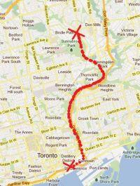 River Don Bike Trail Map