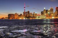 Toronto Skyline from Polson Pier by Allen McGregor