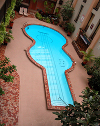 Guitar Shaped Pool by Ace Armstrong