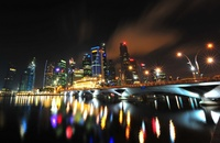 Singapore Skyline by Mike Behnken
