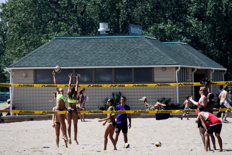 Beach Volleyball Match Eastern Beaches