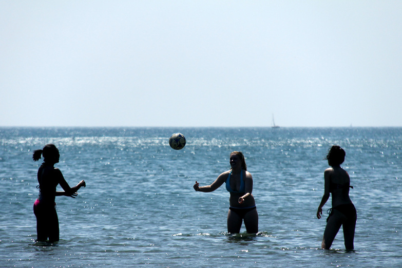 Beach Volleyball in the Lake Ontario