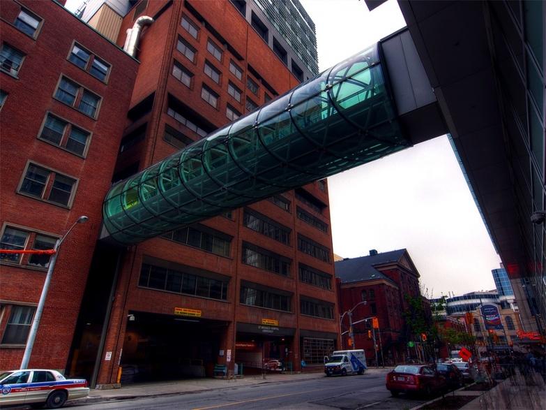 International Centre for Healthcare Education glass bridge