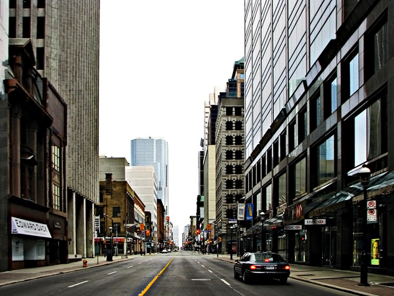 An Empty Toronto by Michael Gill
