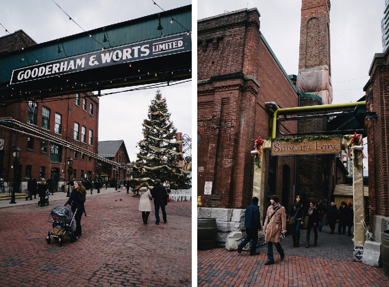 The annual Toronto Christmas Market Distillery District