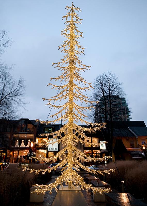 Yorkville Christmas Lights by David Porter