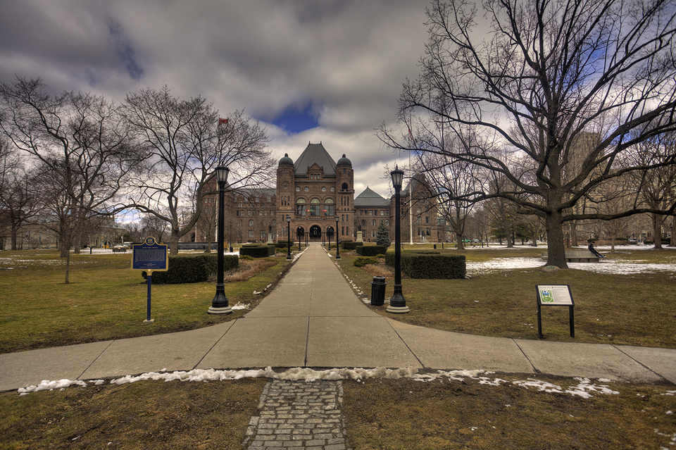 Queens Park Front View of Ontario Legislative Building