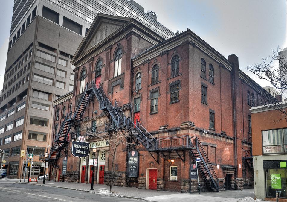 Toronto Massey Hall concert hall