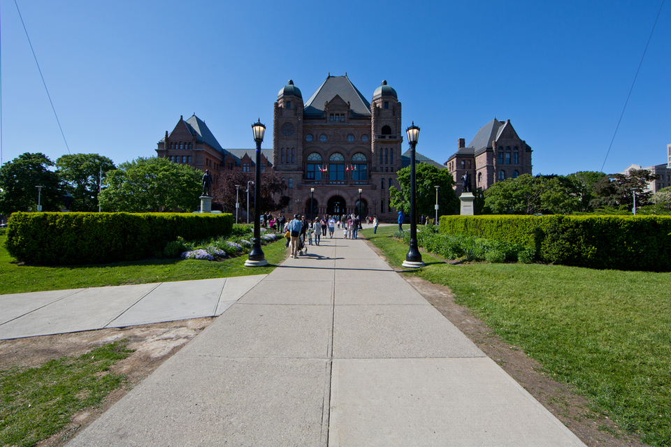 Ontario Legislative Building in Queens Park