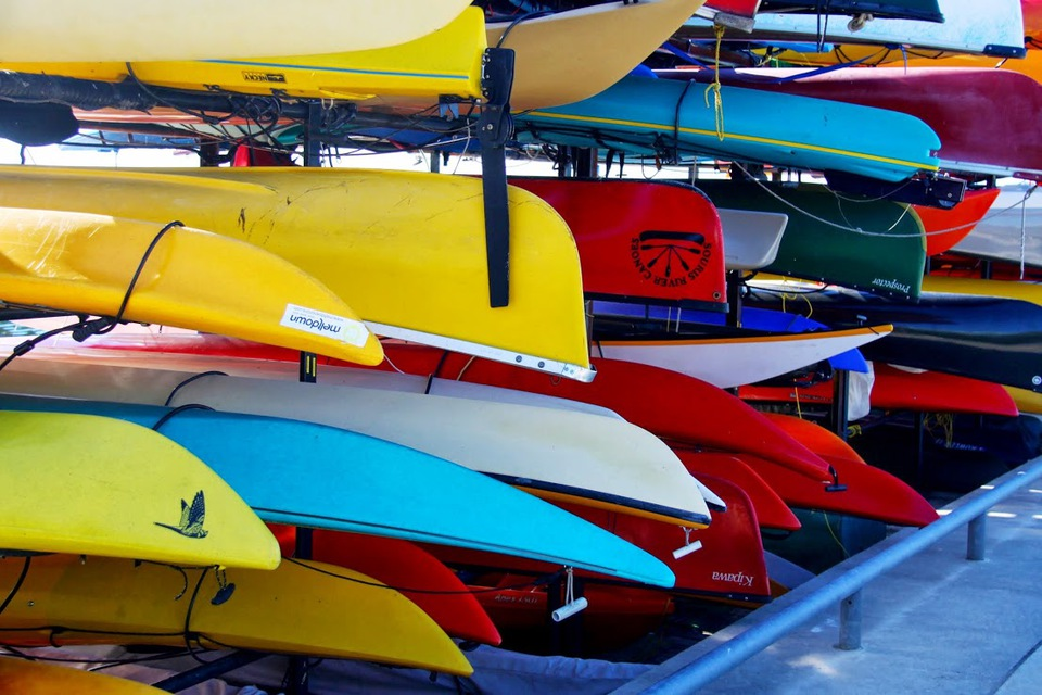 Colourful Kayaks