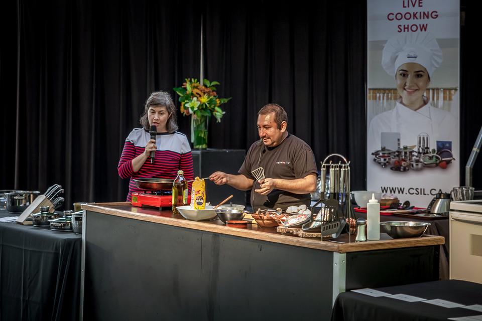 Chef Carlos Fuenmayor during Live Cooking Show