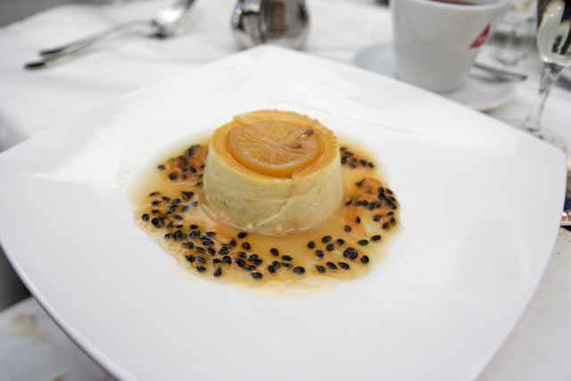 Passion Fruit and Orange Flan by Renee Suen
