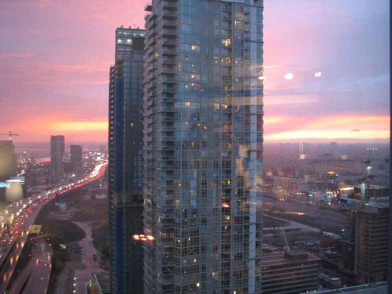 Sunset behind a Condo by Andrew Rivett