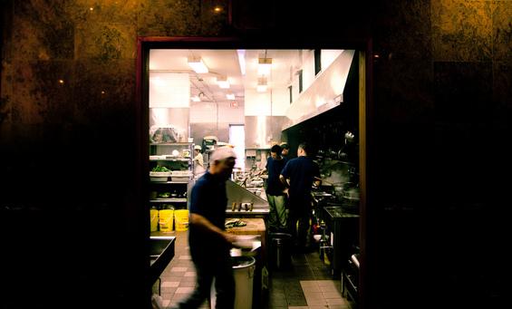 The kitchen of the restaurant by Sam Rosenbaum