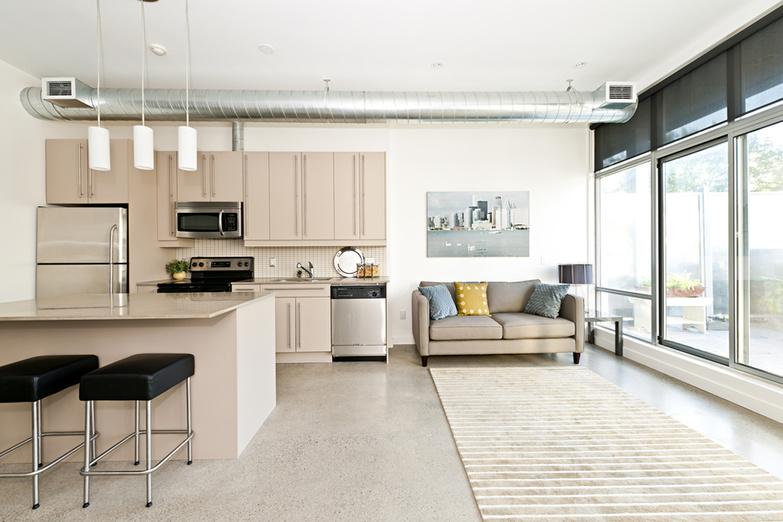 Soft loft kitchen