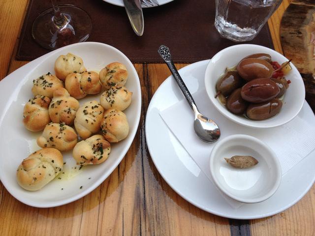 Nodini and olives by Sandy Kemsley