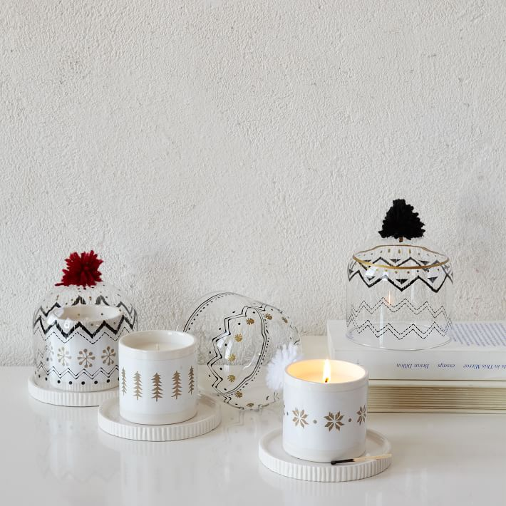 Knit Cloche Candle