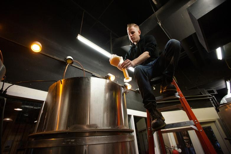Granite Brewery 1 Dave Keefe tests the beer